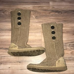Brown Ugg Knit Boots
